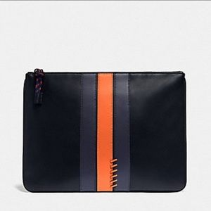 New Coach Large Leather Pouch Tablet Case